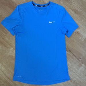 Nike Men's Blue Dri-Fit Running Shirt Size S